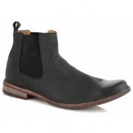 παπούτσια ανδρικά elastic sides - μαύρο
