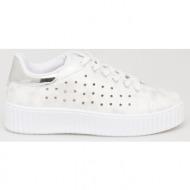 aviana metallic sneaker, ασημί - 44709/7