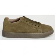 britt suede sneaker, λαδί - 14685/9
