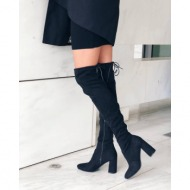 zaria over the knee boot, μαύρο - 45391/1