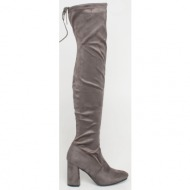 zaria over the knee boot, γκρι - 45391/2