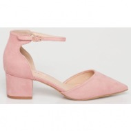 stormi suede γόβα, baby pink - 12421/6