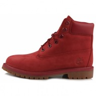 timberland 6 in premium wp boot red (ca13hv)