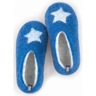 kids & toddler slippers star blue
