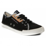 pepe jeans sneakers ανδρικά παπούτσια pms30104 μαύρο