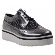 smart cronos oxford γυναικεία παπούτσια 6323 μολυβί