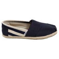 toms espadrilles university classic navy stripes