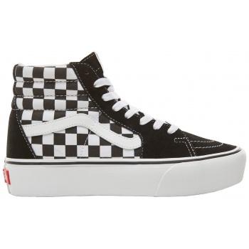 2227dc0033 vans γυναικεία μποτάκια sneakers suede checkerboard sk8-hi platform 2.0 -  vn0a3tknqxh1 - μαύρο