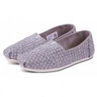 toms shoes classic silver crochet lace 10009728 ασημί