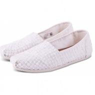 toms shoes classic white crochet lace 10009733 λευκό
