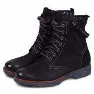 jana women`s ankle boot 8-25026-29 μαύρο