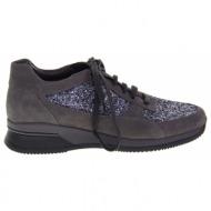 no. 37 γκρί suede δερμάτινα casual παπούτσια