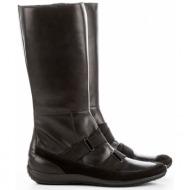 μαύρη μπότα δερμάτινη