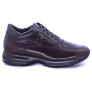 καφέ δερμάτινα casual παπούτσια
