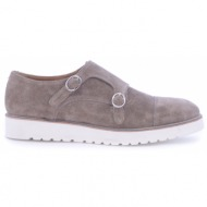 no. 37 taupe suede δερμάτινα monk straps