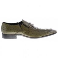 νο. 43 χακί λουστρίνι δερμάτινα παπούτσια