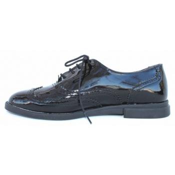 Παπούτσι oxford μαύρο λουστρίνι με κορδόνι λουστρίνι (γυαλιστερό ... 71829b300fb