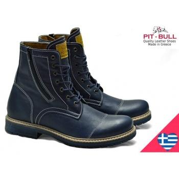14a7f5e4254 Παπούτσι ελληνικά δερμάτινα μπλε μποτάκια ψηλα pitbull « opo.gr