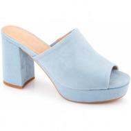 ψηλά mules 8138 - γαλάζιο