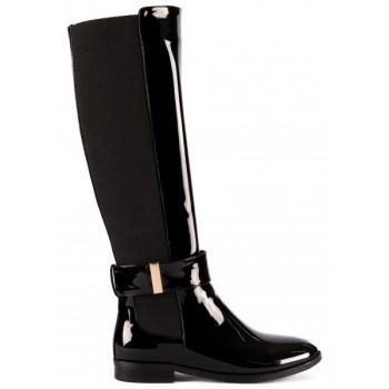 e7e6327c5a1 Παπούτσι μαύρη μπότα ιππασίας με αγκράφα λουστρίνι (γυαλιστερό) « opo.gr