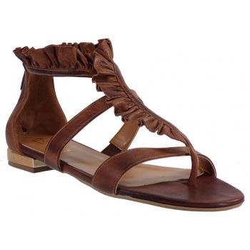 472ac34491f Παπούτσι fardoulis shoes γυναικεία πέδιλα 30018 ταμπά δέρμα με ...
