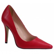 alessandra paggioti γυναικεία παπούτσια γόβες 89001-x κόκκινο δέρμα
