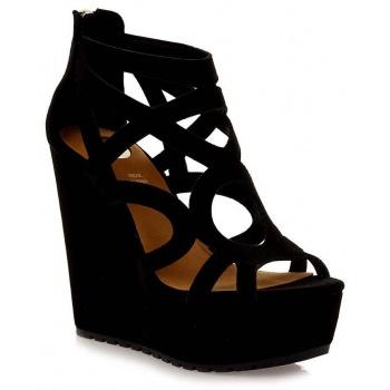 d07be68fe21 exe shoes γυναικεία πέδιλα πλατφόρμες rosa-619 μαύρο g47006917004