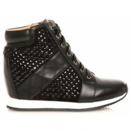 sneakers mariamare με λευκή σόλα black( 61450)