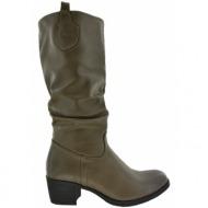 μπότες la coquette με τακούνι taupe( tw-b1314-11)