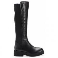 sedici μπότα flat με lycra black (z2916h-k1302)