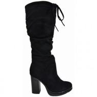 027728e9369 μπότες la coquette suede black (tw-b17028-7)