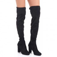 μπότες sedici με τακούνι black suede (z191-w01)