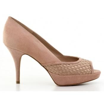 γυναικεία παπούτσια kαλογήρου private label-δέρμα καστόρι και υφασμα σατέν σε προσφορά