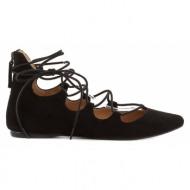 γυναικεία παπούτσια nine west-δέρμα καστόρι