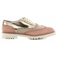 γυναικεία παπούτσια feng shoe-δέρμα καστόρι και δέρμα τελ. specchio