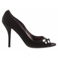 γυναικεία παπούτσια kαλογήρου private label-ύφασμα κρεπ και στρας