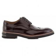 ανδρικά παπούτσια kαλογήρου men-αντικέ γυαλιστερό δέρμα τελατίνι