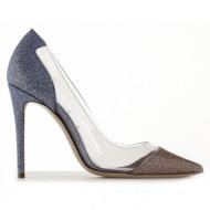 γυναικεία παπούτσια dei mille-glitter και pvc