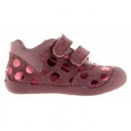 παιδικά παπούτσια geox-δέρμα καστόρι σταμπωτό