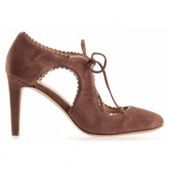 γυναικεία παπούτσια nine west-δέρμα καστόρι και συνθετικό λουστρίνι
