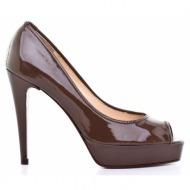 γυναικεία παπούτσια kαλογήρου private label-δέρμα λουστρίνι