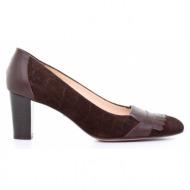 γυναικεία παπούτσια kαλογήρου private label-δέρμα καστόρι κροκό