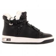παιδικά παπούτσια michael michael kors-δέρμα τελατίνι, glitter & γούνα συνθετικ