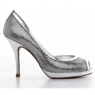 γυναικεία παπούτσια kαλογήρου private label-`υφασμα mesh και δέρμα σεβρώ