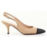 γυναικεία παπούτσια kαλογήρου private label-δέρμα σεβρώ και λουστρίνι