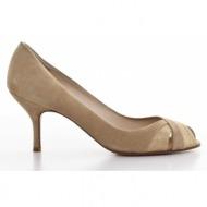 γυναικεία παπούτσια kαλογήρου private label-δέρμα καστόρι και σταμπωτό δέρμα σαύρα