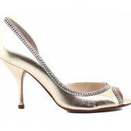 γυναικεία παπούτσια kαλογήρου private label-μαλακό δέρμα νάπα με στρας