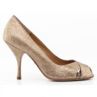γυναικεία παπούτσια kαλογήρου private label-δέρμα φίδι σταμπωτό