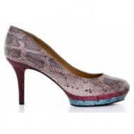 γυναικεία παπούτσια nine west-δέρμα φίδι σταμπωτό