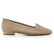 γυναικεία παπούτσια kαλογήρου private label-δέρμα σεβρώ περφορέ